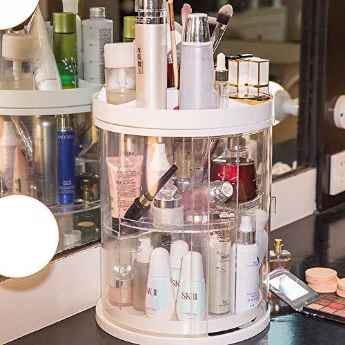 Kcakek Roterende Cosmetische Storage Box Lipstick Skin Care Dresser Desktop Finishing Rack Transparant cosmetische opbergdoos Layered Cosmetische Stand Badkamer Cosmetische Storage Box