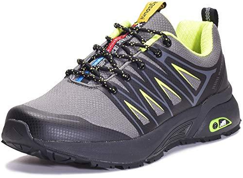 Eagsouni Laufschuhe Herren Damen Traillaufschuhe Sportschuhe Turnschuhe Sneakers Schuhe für Outdoor Fitnessschuhe Joggingschuhe Straßenlaufschuhe, Grau D, 43 EU