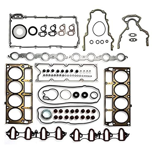 Vincos MLS Full Cylinder Engine Gasket Set HS26191PT-1 CS9284 Compatible with Avalanche/Suburban/Express/Savana 1500 5.3L Silverado/Sierra 1500 Tahoe Yukon 4.8L 5.3L V8 2004 2005 2006