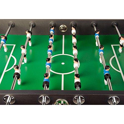 Maxstore Kickertisch Leeds in 5 Farben, Tischfußball, Tischkicker, inkl. 4 Bälle 2 Getränkehalter, ca. 60kg - Schwarz