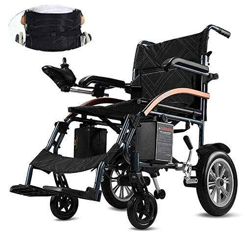 Comfortable Sunlounger,Medical Rehab Chair, Wheelchair,Electric Wheelchair,Intelligent Lightweight Light Aluminum Folding Carry Durable Electric Wheelchairs Four Rounds Disabled Elderly Outdoor Comf