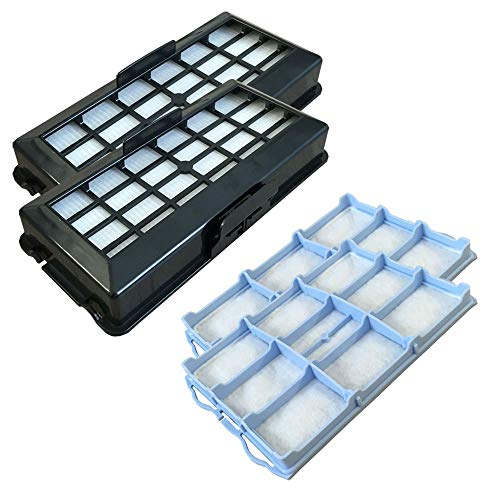 PakTrade Set - 2X HEPA Filter + 2X Motorfilter geeignet Für Bosch BSG71266/11, BSG71466/14, BSG71666/14
