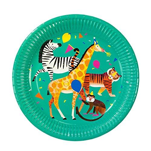 Talking Tables Safari Jungle Zoo - Platos para fiestas, color verde