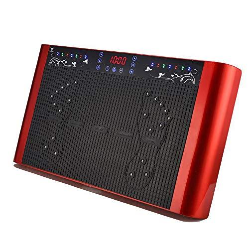 TWW Fettabweiser mit Magnet-Therapie, dünn, mit USB-Rührgerät, Fitnessausrüstung für Zuhause rot