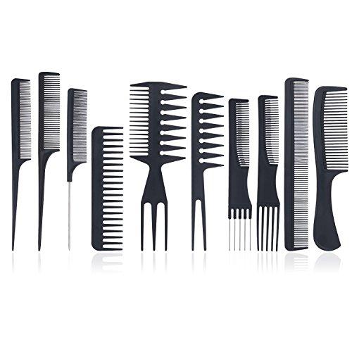 Set di Pettini – Meersee Professionale Styling Pettine Set, Salone di Taglio dei Capelli Pettine Nero, Stylist Parrucchiere Barbiere Pettine Set