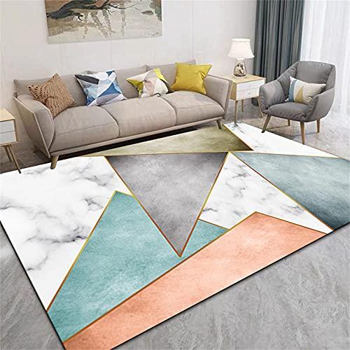 Tapis IKEA Tapis Salon Tapis géométriques à Blocage de Couleurs, Moquette intérieur et extérieur, Confortable et résistant à l