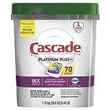 Cascade Platinum Plus Dishwasher Pods, ActionPacs Detergent, Lemon, .1 Tube(70 count)