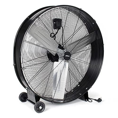 XPOtool Ventilador de tambor industrial 90 cm 360 W ventilador de suelo portátil 3 velocidades