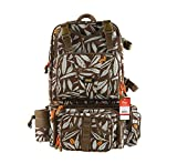 Kingdom Fishing Bag Multifunctional Fishing Backpack Tackle Bag Detachable Combination Lure Backpacks Fishing Gear Storage Shoulder Handbags with Phone Bag (khaki)