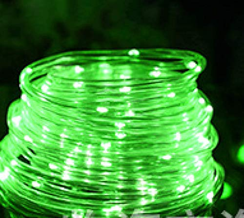 LED Solar Outdoor Decoration Copper Wire lamp Tube lamp String Light Garden Garden Decoration Green 12 Meters 100 Lights