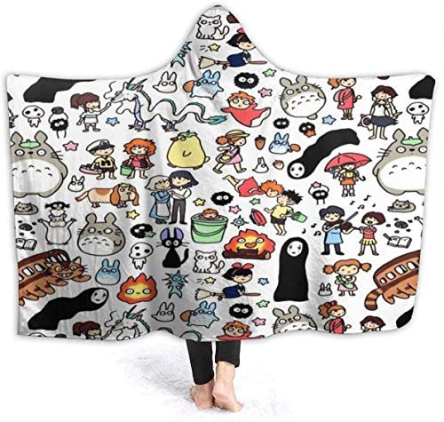 Keyboard cover Blanket with Hood My Neighbour T-o-Toro Has no face Lost Blanket Sleeping Blanket Sofa Blanket fur Blanket Couch Blanket Wearable Throwing Quilts for Adults 60 x 50 inches