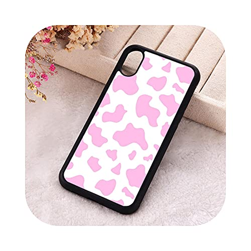 ZaHome 5 5S SE 2020 Funda de teléfono para iPhone 6 6S 7 8 Plus X Xs XR 11 12 Mini Pro Max Silicona Suave TPU Rosa Moo para iPhone SE 2020