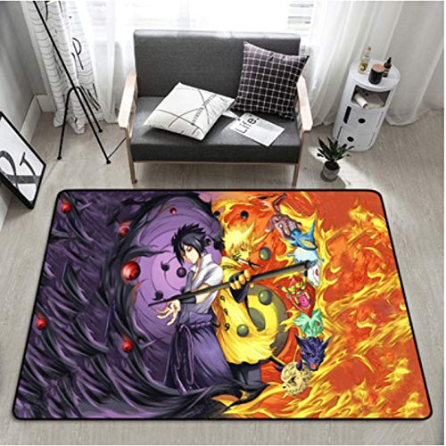 Naruto Tapijt Anime Mat Cartoon Kinderen Woonkamer Sofa Salontafel Slaapkamer Badkamer Antislip Mat Gamepad 80 * 120Cm
