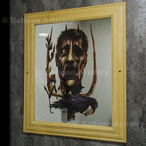 1 Décoration fenêtre d'Halloween - Tête Coupée Sanglante