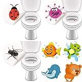 LK-Trend & Style Saubere Toilette durch Toilettensticker - 16 Bunte Aufkleber für das WC