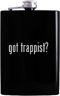 got trappist? - 8oz Hip Alcohol Drinking Flask, Black