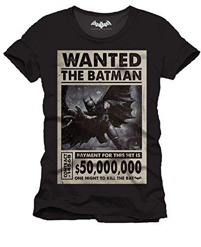 T-Shirt schwarz The Batman Wanted One Night Batman Pause canap