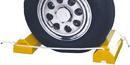 Tigerchocks AC4614-LR Urethane Military Aircraft Wheel Chock, Hi-Vis Yellow, 14