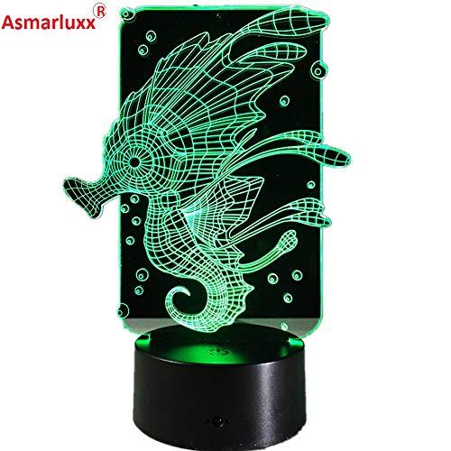 Nuevo en Luces de hipopótamo Luces de Cambio lámpara de Mesa de luz Nocturna de acrílico Regalos de decoración del hogar