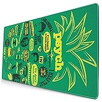 マウスパッド クールなサイコパイナップルの引用マッシュアップ 超大型 ゲーミングマウスパッド おしゃれ 防水 滑り止め 耐久性が良い 400x750x3mm