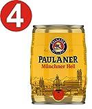 4 x Paulaner Múnich infierno 5 litros cerveza barril vol 4,9%