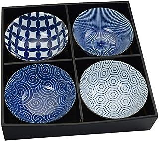 Tokyo Design Studio, Floral Blue, 4 Schalen Set , 4-tlg., Ø