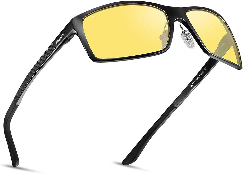 SOXICK Night Vision Glasses  Adjustable Polarized HD Driver Sunglasses For Men Women