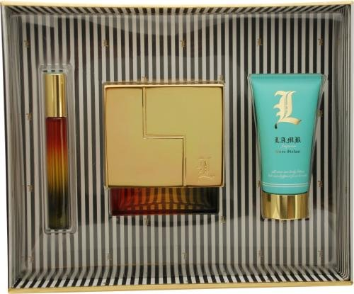 L Lamb By Gwen Stefani For Women Eau De Parfum Spray 3.4 Oz & Body Lotion 2.5 Oz & Eau De Parfum Rollerball .21 Oz Mini