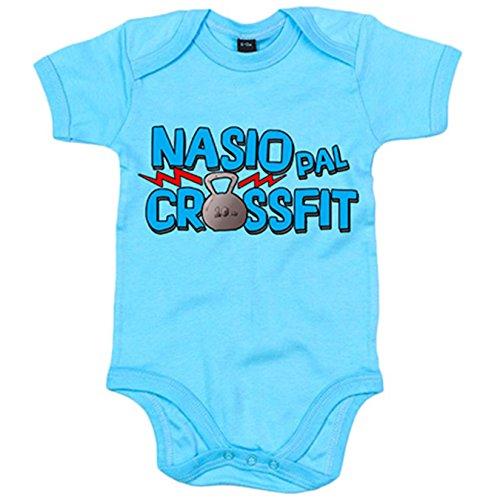 Body bebé nacido para el Crossfit - Celeste, 6-12 meses