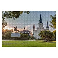 Wooden Puzzle 1000 Pieces Saint Louis Cathedral in New Orleans Beautiful Church Stock Pictures Jigsaw Puzzles for Children or Adults Educational Toys Decompression Game