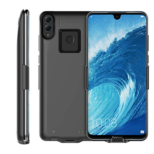 Compatible with Huawei Honor 8X Max 7500mAh Battery Case, FugouSell Rechargeable Extended Battery Backup Charger Case Portable Power Bank Juice Full Protection for Huawei Honor 8X Max 7500mAh (Black)