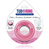 TubRing The Ultimate Tub Drain Protector Hair Catcher/Strainer/Snare, Regular - Pink