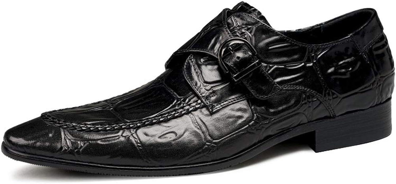 BNMZX Herren-Lederschuhe Herrenschuhe Britische Business-Kleider groe Schuhe