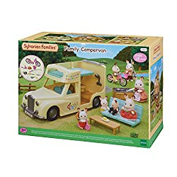 Family Campervan seats up to seven and the seats recline into beds. It comes with over 15 pieces of fun playable camping accessories. Enjoy fun camping activities like cooking, barbecue, cycling, fishing and other fun camping activities Sylvanian Fam...