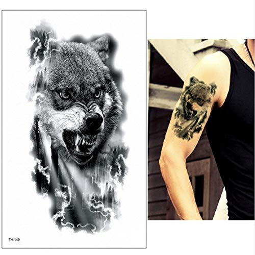 Handaxian Tatuaje Tribal Lobo 3pcsBlack