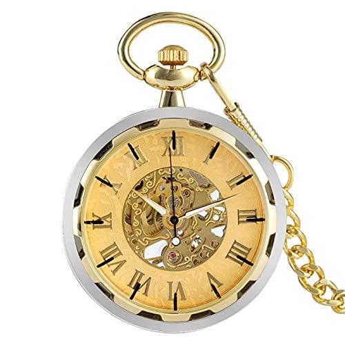 ZIYUYANG Reloj de Bolsillo,Reloj de Bolsillo mecánico de Cuerda Manual, Solo Regalo de Recuerdo Antiguo Retro