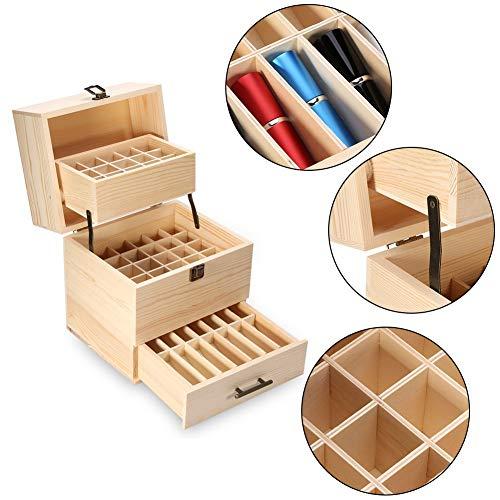 Houten etherische olie doos, 59 Grid Houten etherische olie doos, geur verpakking doos, hoge kwaliteit 3 - laag Aromatherapie etherische olie doos organisator container