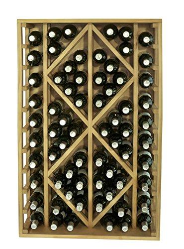Expovinalia Botellero con Capacidad para 70 Botellas, Roble Claro, 68x32x105 cm