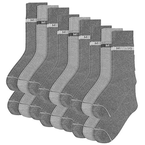 MUSTANG Herren Socken Basic 18er Pack, Größe:39/42, Farbe:Dark Grey Mix (9703)