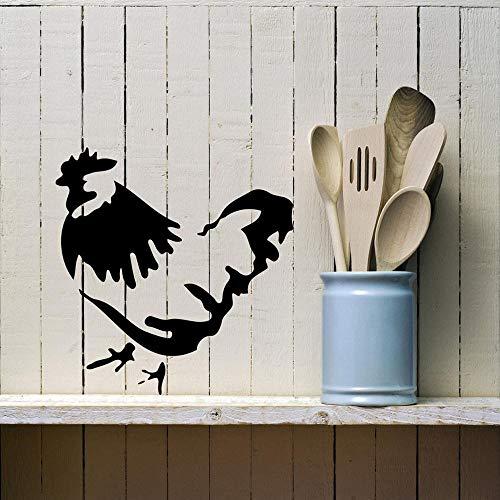 yaonuli muursticker Hahn, afneembaar, keuken, creatief, vinyl