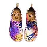 UIN Mujer Mocasines Plataforma Casual Loafers Plano Casual Cómodo y Antideslizante Zapatillas para Mujer Zapatos del Barco Flower 39
