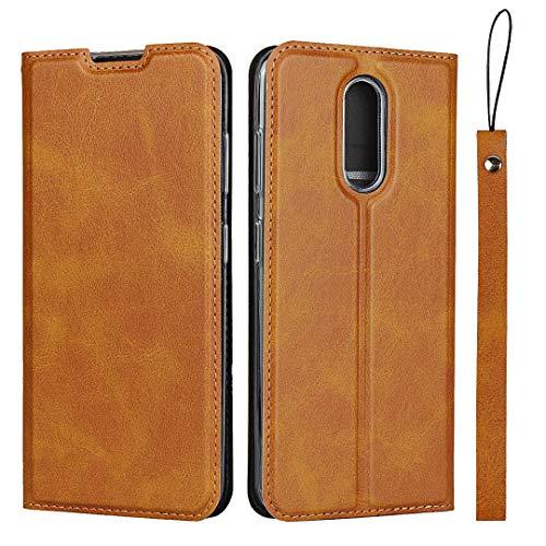 Hülle für Nokia 3.2, SONWO Ultra dünn PU Ledertasche Flip Brieftasche Handyhülle für Nokia 3.2, mit Karteneinschub und Magnetverschluss, Braun
