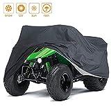 NEVERLAND Waterproof Small ATV Cover, for Polaris Predator Yamaha Raptor Honda TRX Kawasaki KFX Wheel Car Black 57x33x38 inch
