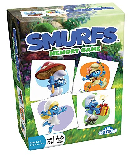 Smurfs Memory Game - Features 24 Fan Favorite Smurf Characters from the New Movie on 48 Ready to Match Cards - Ages 3+