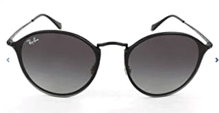 RB3574N Blaze Round Sunglasses, Black Demigloss/Grey Gradient, 59 mm