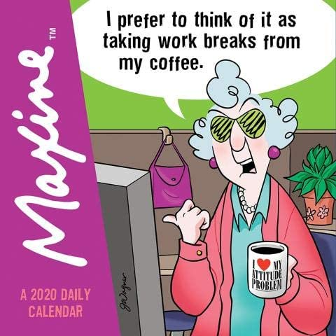 Bombing new 55% OFF work 2020 Maxine 365 PAGE-A-DAY Desk DAILY CALENDAR