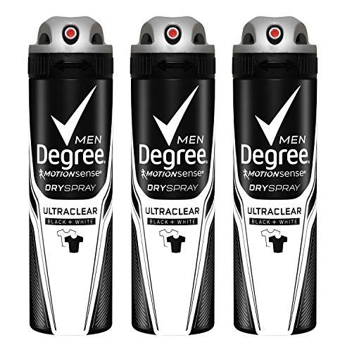 Degree Men MotionSense Antiperspirant Deodorant Dry Spray, UltraClear Black+White, 3.8 Ounce...