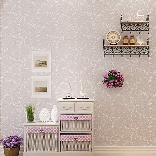 Fotobehang, minimalistische 3D-pastelstijl, het vlies heeft een sterk ademend vermogen, sterke hechting en lange levensduur, geschikt voor de muur in de woonkamer, slaapkamer, 0,53 x 10 Stijlnaam size Lightpink