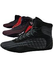 FOX-FIGHT Martial sport schoenen ring schoenen atletiek fitness schoenen bodybuilding (42, zwart)