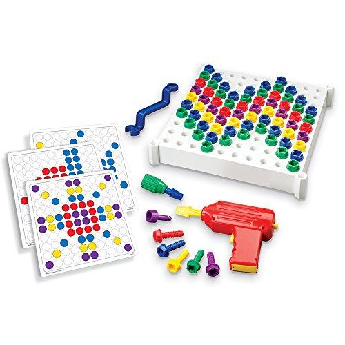 Educational Insights Design & Drill Activity Center, 146 Piece Drill Toy Set, Build Fine Motor Skills, STEM Toy